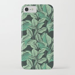 Exotic Tropical Banana Palm Leaf Print iPhone Case