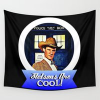 dr who Wall Tapestries featuring Stetsons Are Cool!  |  Dr. Who by Silvio Ledbetter