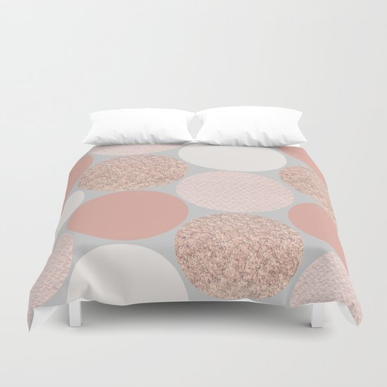 Rose Gold Dots Duvet Cover By Georgiana Paraschiv Society6