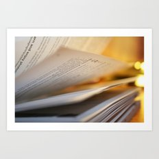 Pages in time Art Print