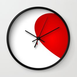 Half Heart Woman Wall Clock