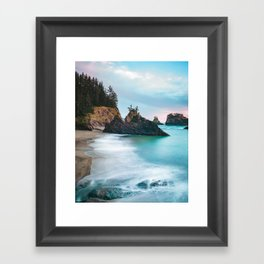 Secret Beach Sunset Framed Art Print