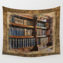 Knowledge - Antique Books on History & Law Wall Tapestry