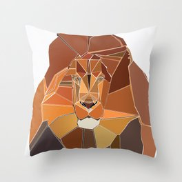 Crystal Lion Throw Pillow