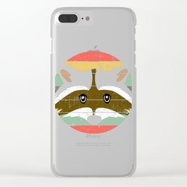 Retro Tee For Animal Lovers With A Cute Nice Illustration Of A Raccoon Forestry Animals Forester  Clear iPhone Case