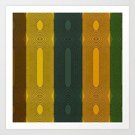 Fall Twist Abstract Art Print