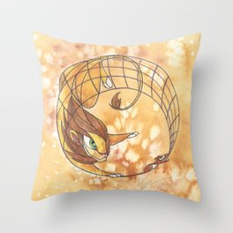 Aesop's Fables - The Lion and the Mouse Throw Pillow