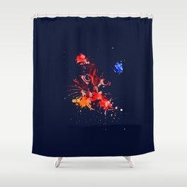 Grunge Cat Shower Curtain