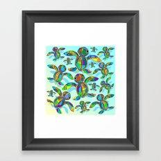 Baby Sea Turtle Fabric Toy Framed Art Print