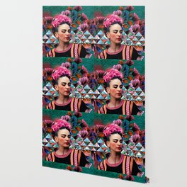 Flowery Frida Wallpaper