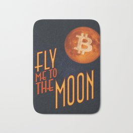 BTC to the Moon Bath Mat