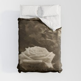 Pink Roses in Anzures 5 Antiqued Comforters