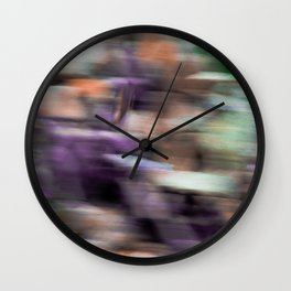 Fast in Flight - A Colorful Abstract Motion Blur Wall Clock