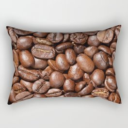 Delicious Raw coffee beans Background Rectangular Pillow