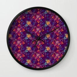 Flor de Muerto - Beautiful Bones Wall Clock
