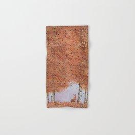 Autumn Birch Fox Hand & Bath Towel