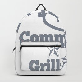 Grill BBQ Dad Barbecue Cook Gift barbeque Backpack