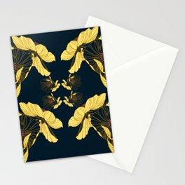 Art Nouveau Poppy Abstract Stationery Cards
