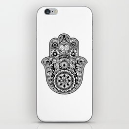 Black and White Hamsa Hand iPhone Skin