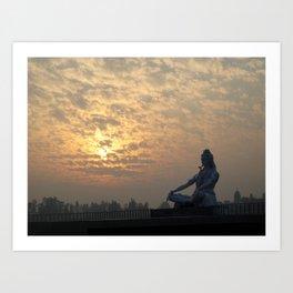 Shiva Sunset Art Print