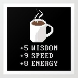 Coffee and stats Art Print
