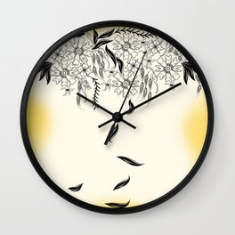 Hanging Floral Wall Clock