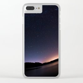 Stars Adorn Lake Clear iPhone Case