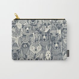 canadian animals indigo pearl Carry-All Pouch