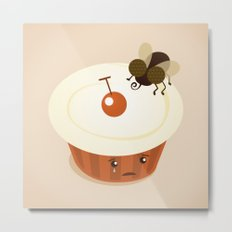Fly on a Cupcake Metal Print