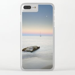 """SuperMoon At Plomo Beach"" Clear iPhone Case"