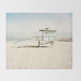 Venice Beach Tower Throw Blanket