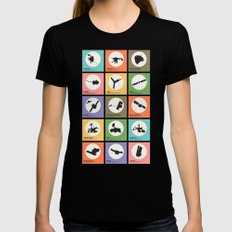 Space Probes Black Womens Fitted Tee SMALL