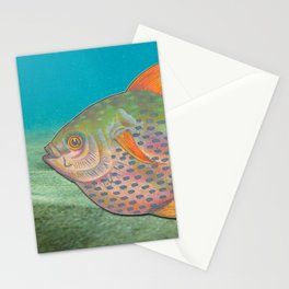 Vintage sketch of a colourful fish Stationery Cards