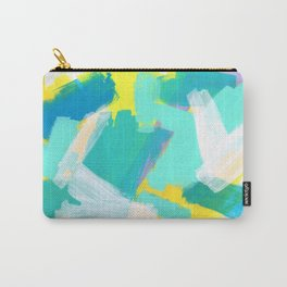 Be Kind, Be OK pastel color abstract painting mint green modern art acrylic mixed media Carry-All Pouch