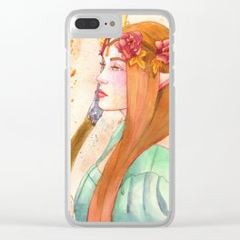 Autumn Elf Clear iPhone Case
