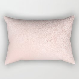 She Sparkles Rose Gold Pastel Light Pink Luxe Rectangular Pillow