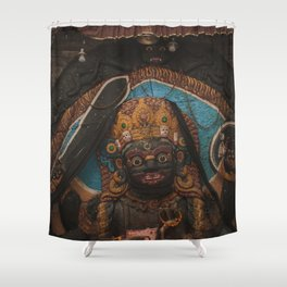 Temples and Architecture of Kathmandu City, Nepal 003 Shower Curtain