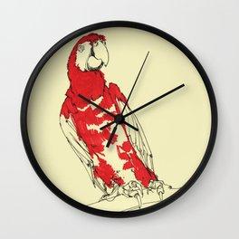 Coney Island Macaw Wall Clock