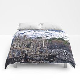 Vulcano Etna on the Isle of Sicily Comforters