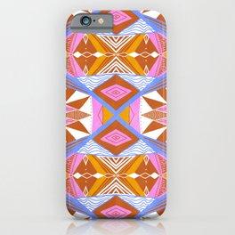 imogene orange, repeat pattern iPhone Case