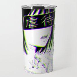 ANNOYED - SAD JAPANESE ANIME AESTHETIC Travel Mug