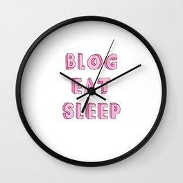 BLOG EAT SLEEP Wall Clock