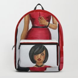 The Woman In Red Backpack