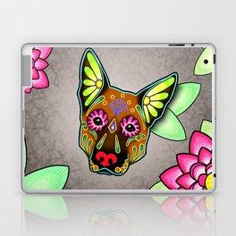 German Shepherd in Brown - Day of the Dead Sugar Skull Dog Laptop & iPad Skin
