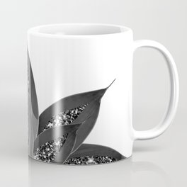 Gray Black Agave with Black Silver Glitter #1 #shiny #tropical #decor #art #society6 Coffee Mug
