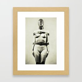 Silent - Nude woman in bdsm fetish style Framed Art Print