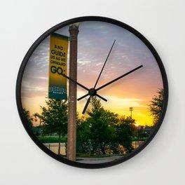 Baylor University Campus Sunrise Lightpost Wall Clock