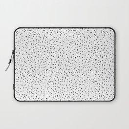 Scrawls Dust Pattern (white) Laptop Sleeve