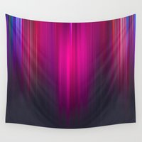 pie Wall Tapestries featuring Raspberry Pie Ombre by GS Designs