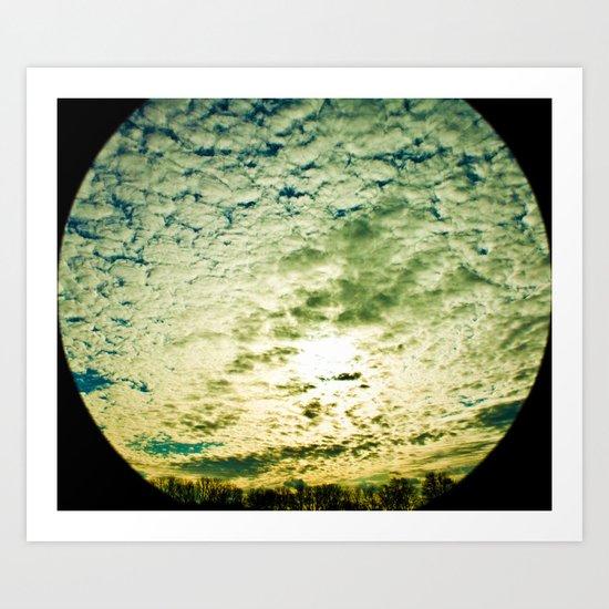 Space Telescope  Art Print